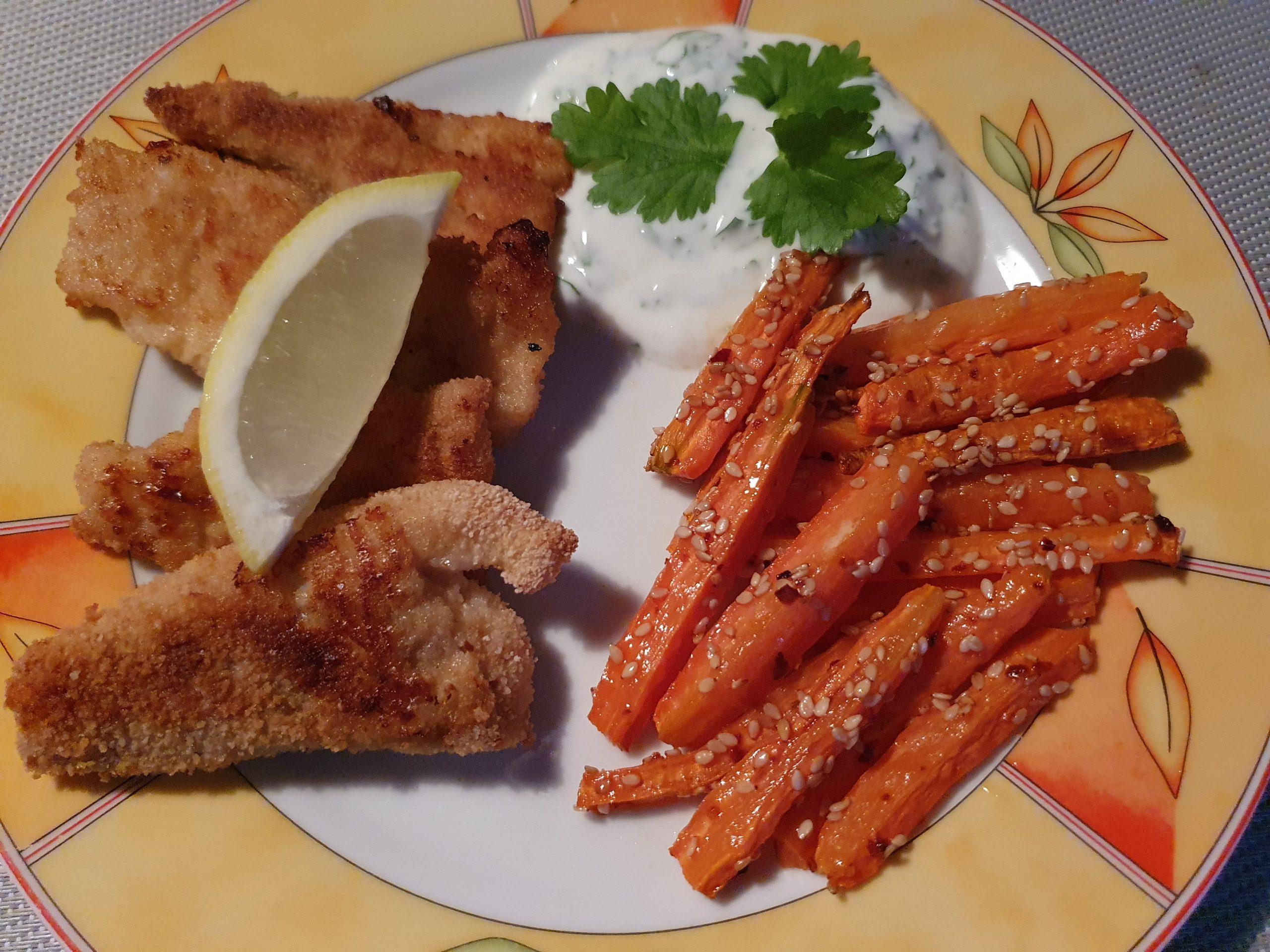 Rezept Fisch-Nuggets mit Sesammöhren