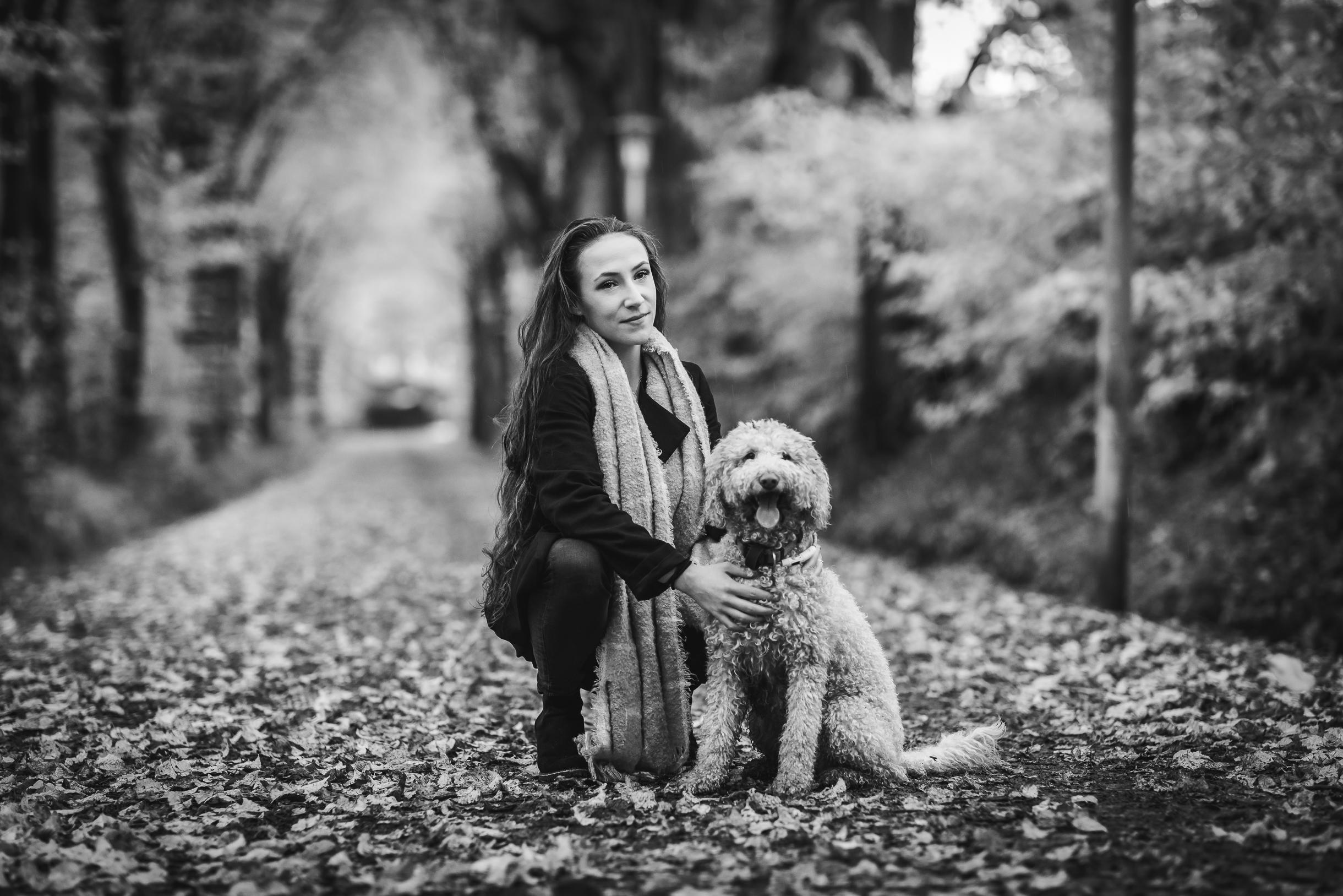 Enya und der Hund
